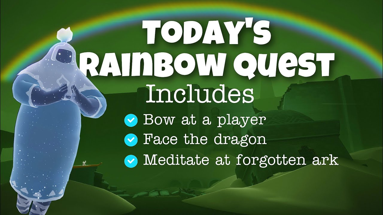 Today's Rainbow Quest in Wasteland (Includes other 3 quests)   sky children of the light   Noob Mode