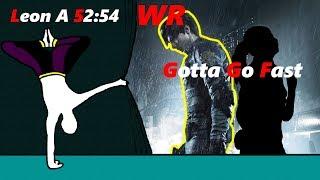 [WR] Leon A SpeedRun 52:54 RE2 Remake   Standard   NG   120FPS