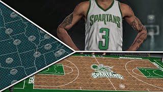 NBA 2K16 Seattle Spartans Legends MyLeague Ep. 2 - RELOCATION!   JERSEY & COURT DESIGN!!!