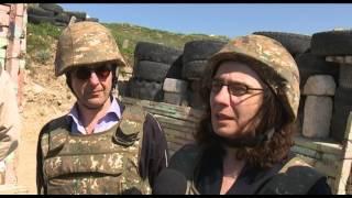 Արսինե Խանջյանը, Ատոմ Էգոյանը առաջնագծում  Artsakh TV