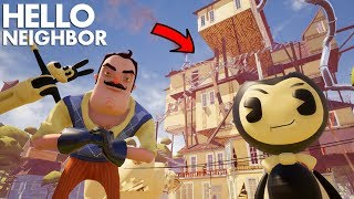 Download The Neighbor TURNS INTO BENDY (Bendy + Hello Neighbor) | Hello Neighbor (Beta 3 Mods) Mp3 and Videos