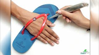 Mehndi Design Using Slipper | Best Easy Mehndi Design