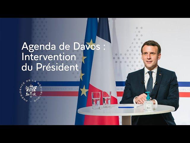 Agenda de Davos du World Economic Forum : intervention du Président Emmanuel Macron
