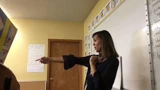 Small talk/calendar talk (guided oral input) + quick quiz (oral review) + brain break
