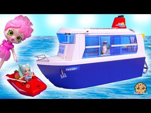 Strange Vacation Trip 3 - Shopkins Happy Places Shoppies Dolls Playmobil Toy Video