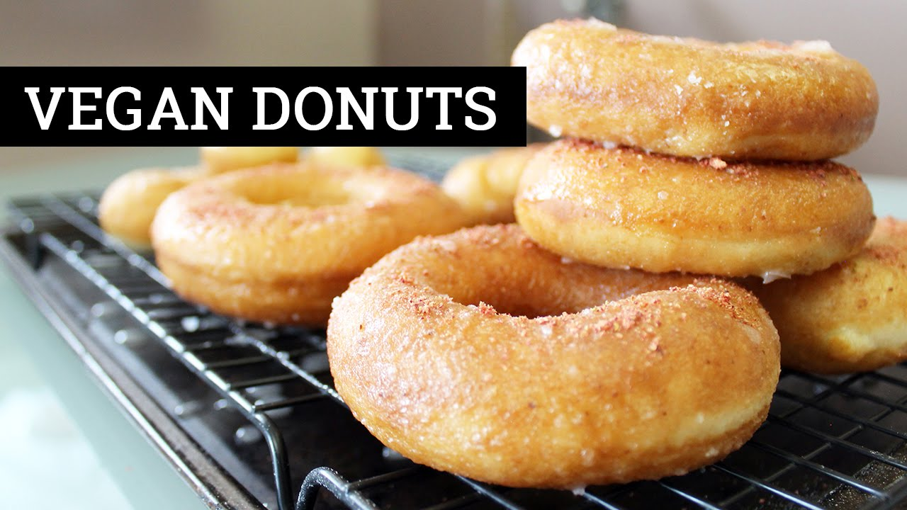 Vegan Donuts (Sugar Glazed Yeast Doughnuts) - US