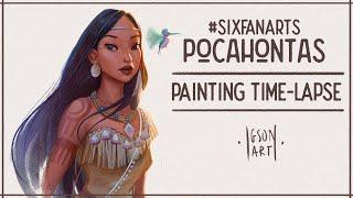 Pocahontas painting timelapse by IgsonArt - Iga Oliwiak