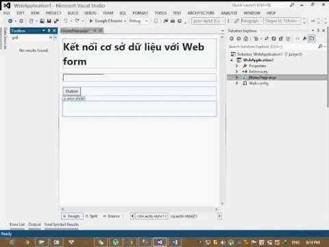 ASP.net - Bài 1: Kết nối Database với Webform trong ASP.net