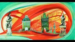 Františka Janečková malířka: Prague 4 , akryl na papíře