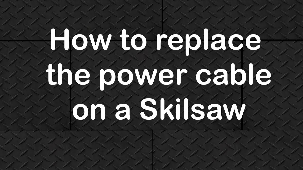 how to install a new cord on a skil saw