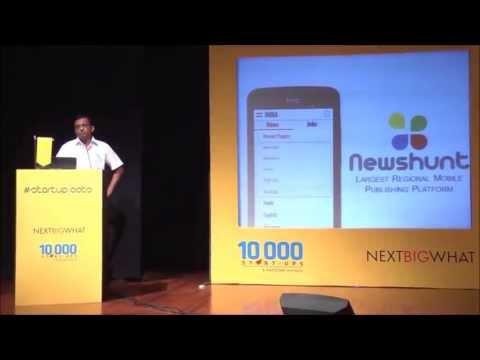 Virendra Gupta of NewsHunt @ NEXTBIGWHAT #Startuproots