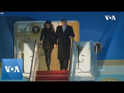 President Donald Trump and first lady Melania Trump arrive at Joint Base Andrews after G-20 summit