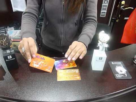 AZTIME mağazalarında istifadə olunan Kredit kartları.