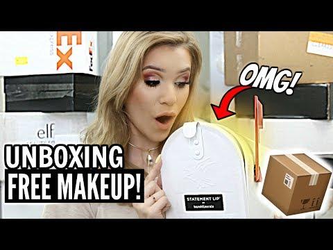 HUGE UNBOXING of NEW MAKEUP! | FREE PR Stuff Beauty Gurus GET!
