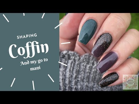TUTORIAL | HOW TO COFFIN SHAPE NAILS | MY GO TO DIP POWDER DESIGN thumbnail