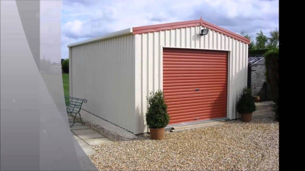 250 cook domestic single garage diy selfbuild kit youtube for Single garage kit