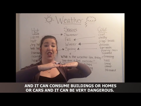How To Talk About The Weather in English ✔