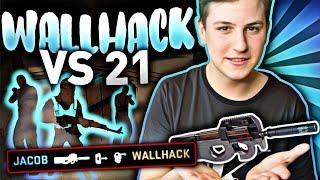21 WIDZÓW VS WALLHACK w CSGO! SILVER - GLOBAL ELITE VS JACOB (WH) NOWY DUST 2 w CS:GO!