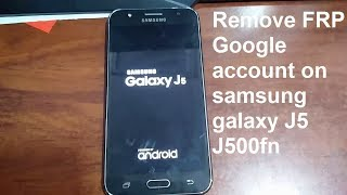 how to remove google account on samsung galaxy j5 j500fn android 6.0.1 simple method