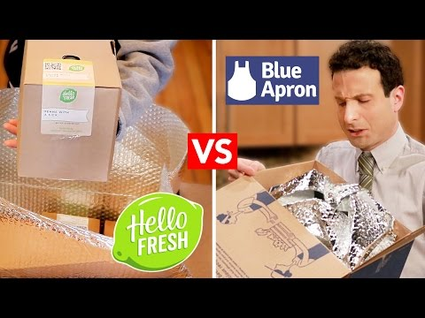 Blue Apron VS HelloFresh  - Are they Worth It? (Unboxing & Review)