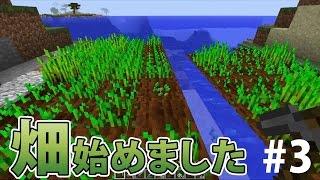 【マインクラフト】素人マイクラ実況 PART3 ほのぼの畑作り編 thumbnail