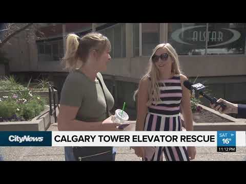 Calgary Tower high angle rescue
