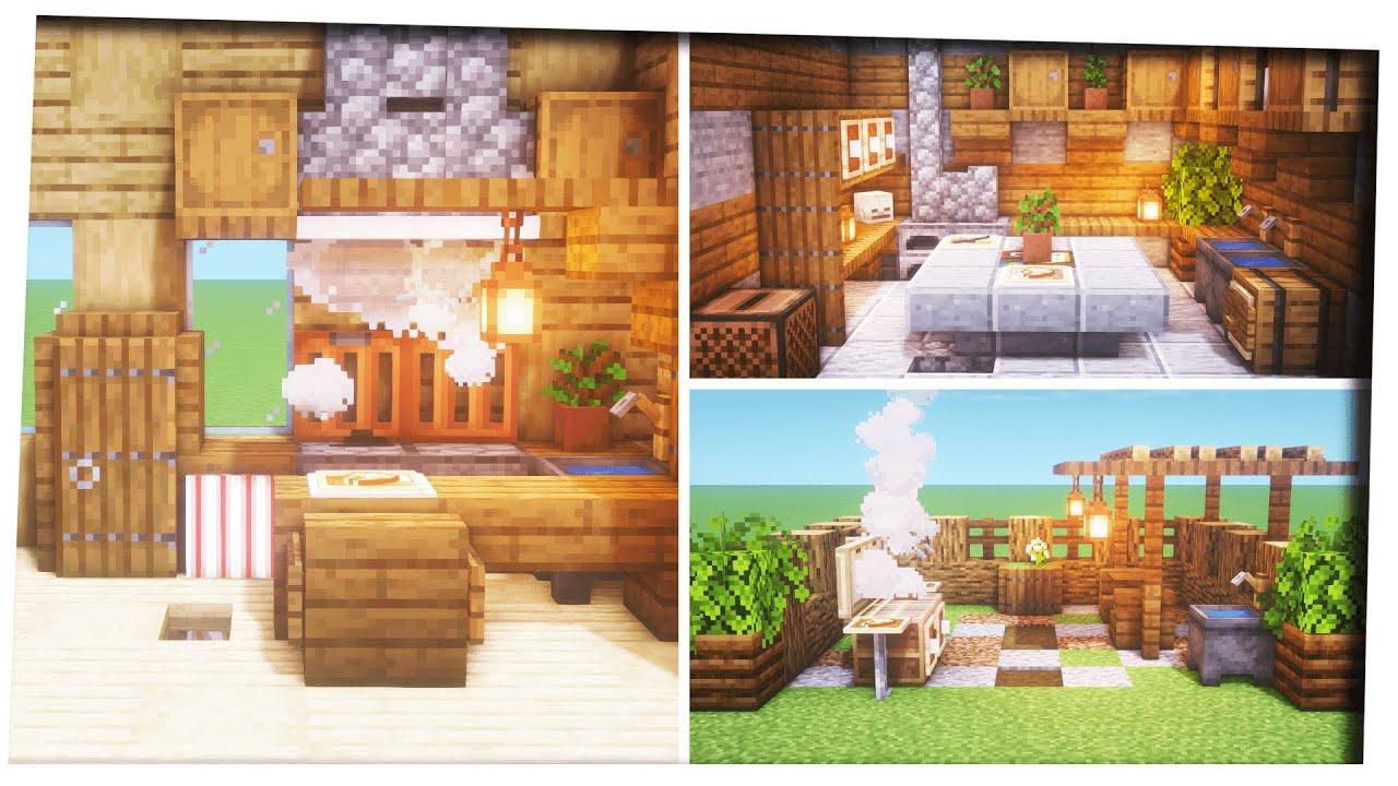 Minecraft   9 Kitchen Designs |Inspiration & Tips|Interior Decoration  ideas|