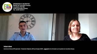 Interview de Paul en BTS Agronomie : Productions Végétales (APV)