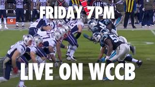 Panthers vs Patriots Friday at 7 on WCCB