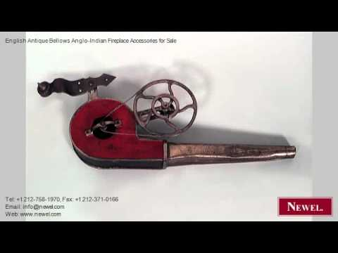 English Antique Bellows Anglo-Indian Fireplace Accessories