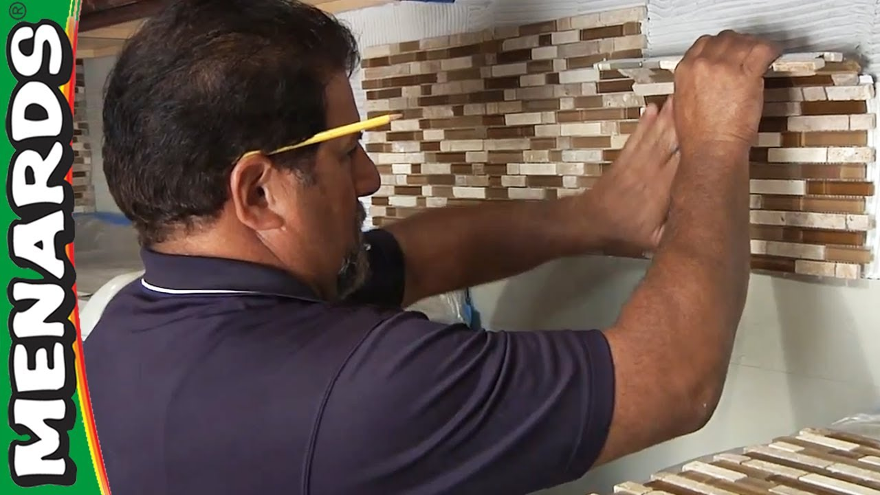 tile backsplash - how to install - menards - youtube