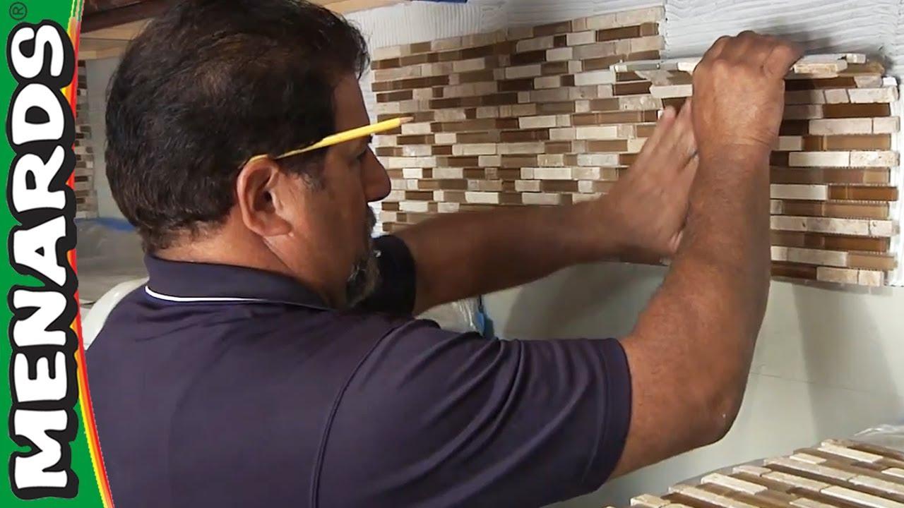 tile backsplash how to install menards