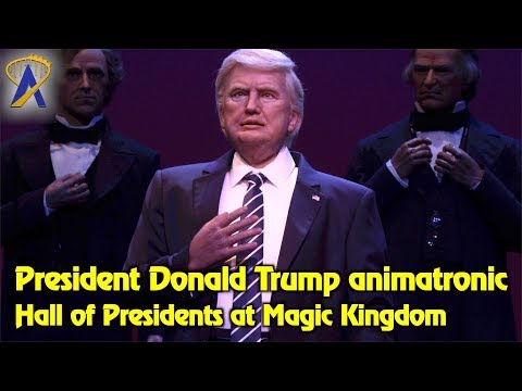President Trump animatronic in Hall of Presidents at Disney's Magic Kingdom