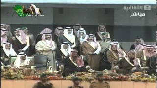 الملك عبدالله بن عبدالعزيز ( في مشهد رهيب ومهيب بين البنادق والسيوف في عسير ) ؟!