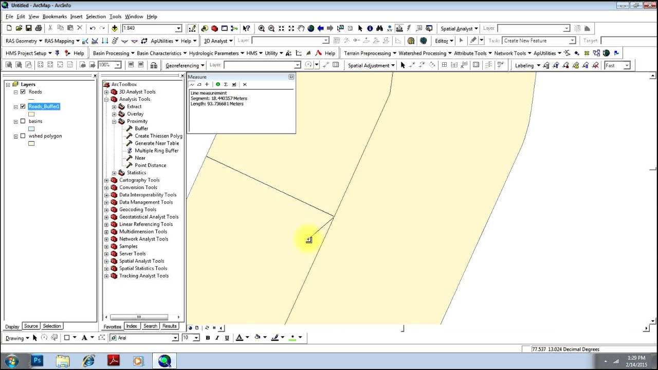 Geoprocessing (Union, Intersection, Create Buffers etc ) in ArcGIS