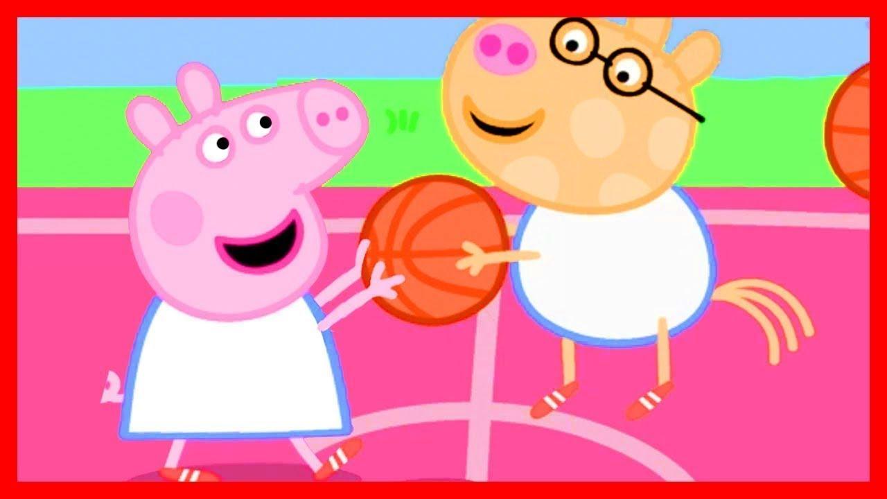 basketball mit peppa wutz 🏀 cartoons für kinder  peppa
