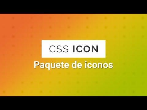 Pack de ICONOS para tu pagina web | Creados con CSS
