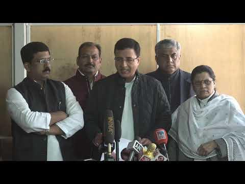 Randeep Singh Surjewala addresses media in Parliament House on Rafale audio leak