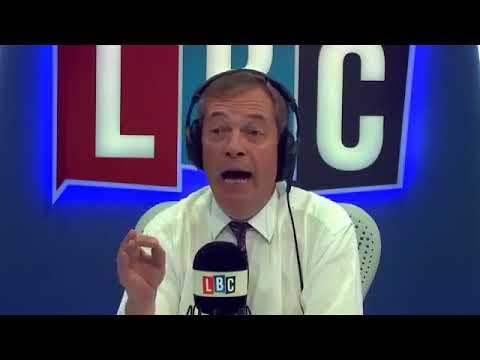 UKIP Nigel Farage On LBC   Irish Border & ANTIFA Activists