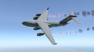 Extremely Powerful C-17 Take Off | X-Plane 11