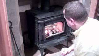 Lighting your wood burning stove
