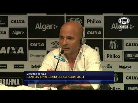 """Sampaoli é apresentado no Santos: """"Espero estar à altura dessa história"""""""