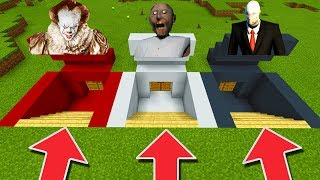 Minecraft PE : DO NOT CHOOSE THE WRONG SECRET BASE! (Pennywise, Slenderman & Granny)