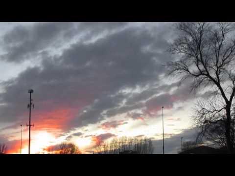North Dakota sun set