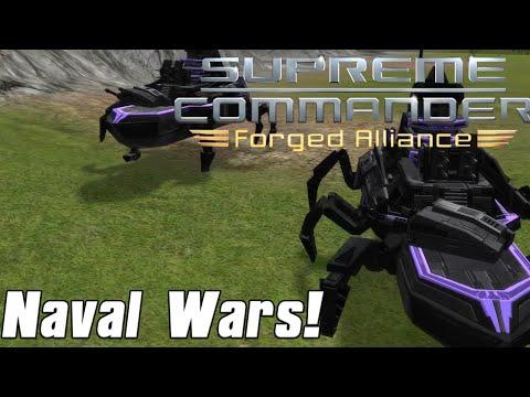 Supreme Commander Forged Alliance - Naval Wars! - 7v7 Multiplayer Gameplay