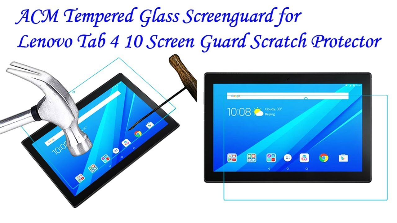 ACM Tempered Glass Screenguard for Lenovo Tab 4 10 Screen Guard Scratch  Protector