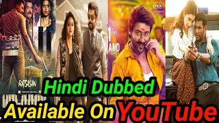 Top 10 New Suspense thriller South Hindi Dubbed Movies Available On YouTube.(Part-4)