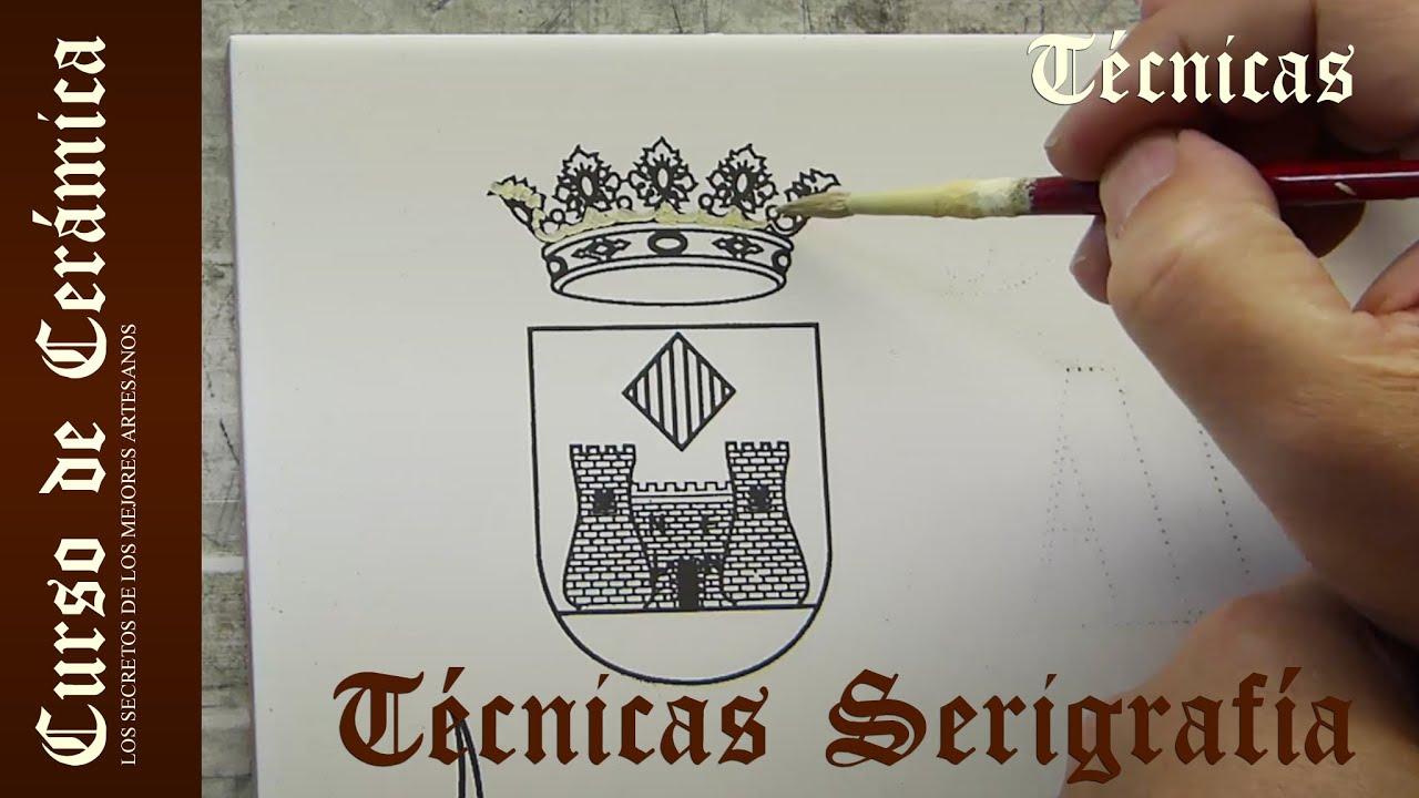 Curso de cer mica t cnicas de serigraf a para cer mica for Tecnicas para esmaltar ceramica