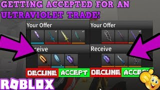 TRYING TO TRADE FOR AN ULTRAVIOLET & OTHER CHRISTMAS KNIVES (ROBLOX ASSASSIN SUCCESSFUL TRADE)