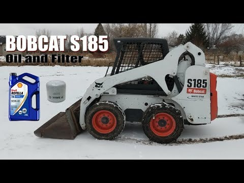 Bobcat S185 Oil And Filter Change
